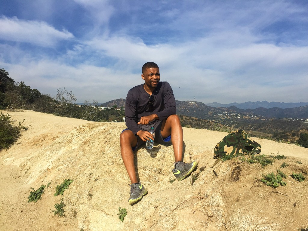 Water Break During Runyon Hike