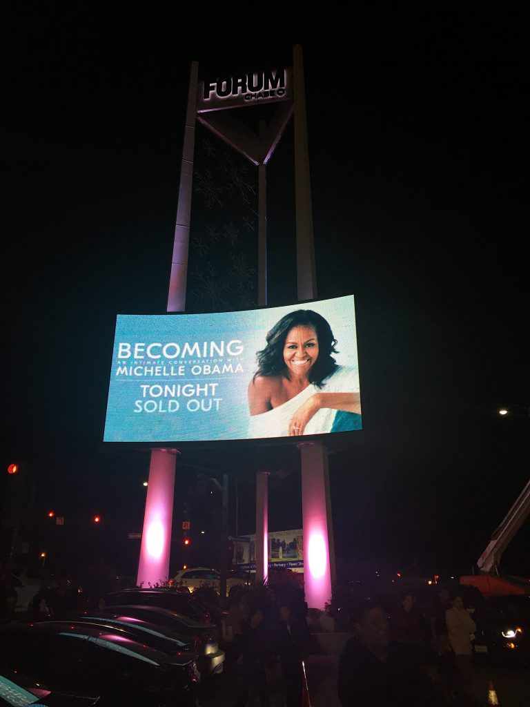 Michelle Obama Marquee at The Forum